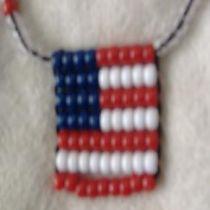 USA Flag Mecklase