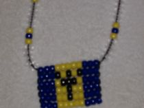 Barbados Flag Necklase