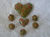 Heart with matching beads