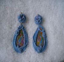 Blue Danube pierced earrings