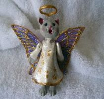 Puffie the Angel Kitty ornament
