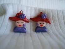 Red Hat Lady pierced earrings  1