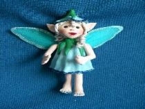 Blue Bell  the blue fairy ornament