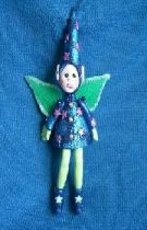Blue  the Wizard Fairy ornament