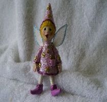 Pinkie  the pink Wizard fairy ornament