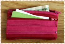Zipper wallet - Pink and Red