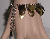 Steel Scale Charm Bracelet