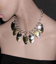 Steel Scale Drape Necklace