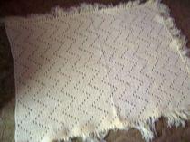 ZigZag Crocheted Crib Cover