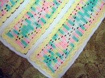 Sunshine Diamonds Hand Crocheted Baby Blanket