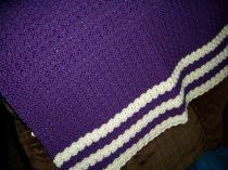 Rickrack Hand Crocheted Baby Afghan