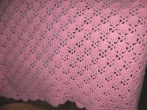 Sea Shells Hand Crocheted Baby Blanket