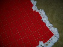 Red Valentine Hand Crocheted Blanket Afghan