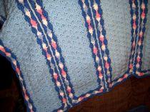 Sea of Shells Hand Crocheted Baby Blanket