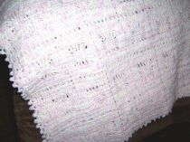 Orchid and White Spider Web Blanket