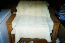 Yellow Hand Crocheted Crib Blanket