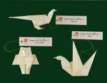 Origami Holiday Ornament :  animals ornament ornaments origami