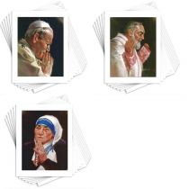 Mother Teresa - Pope John Paul II - Padre Pio - Blank Note Cards