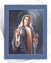 Blessed Virgin Mary - 8x10 BlueGray Matted Print