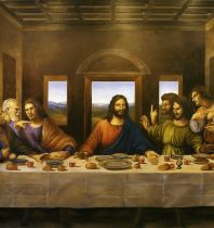 A Last Supper Print size is 9x20