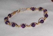 Amethyst Bracelet - Gold