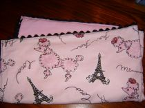 French Poodle Baby Blanket