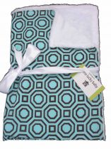 TURQUOISE HOLLYWOOD Minky Baby Blanket