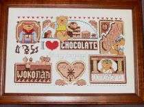 I Love Chocolate Cross Stitch