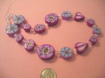Wildflowers Polymer Clay Beads