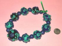 Emeralds Polymer Clay Beads