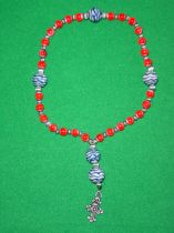 Red and Blue Prayer Beads