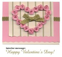 Handmade Rose Keepsake Valentine Card