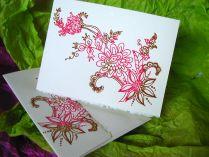 Thai Flower Card - Gocco Print