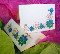 Personalized Flower Card - Gocco Printed