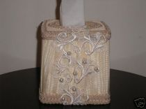 Exquisite Brocade Victorian Tissue Box Cover