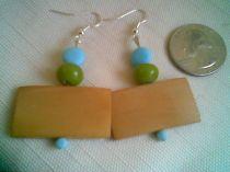 Retro and Wood Earrings