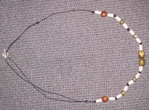 Celtic Wood Beaded Necklace