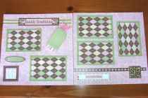 Pre-Made Family Traditions Scrapbook Pages