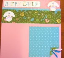 Pre-Made Happy Easter Scrapbook Page