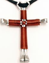 Brown Disciples Cross Necklace