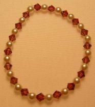 Amethyst Swarovski Crystal  Pearl Bracelet