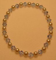 Aquamarine Swarovski Crystal  Pearl Bracelet