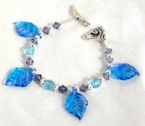 Blue Leaves Bracelet