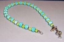Turquoise and Lime Miracle Beads