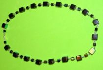 Beautiful Black Squares Necklace