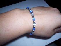 Light blue and White Bracelet