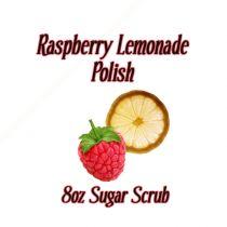 Raspberry Lemonade Polish 8oz Organic Sugar Scrub