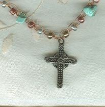 Tri-color Cross Necklace