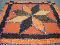 orange lonestar flannel quilt