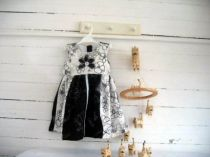 Baby Girls Black and White Applique Dress